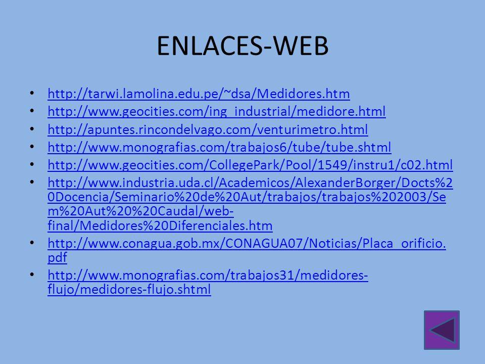 ENLACES-WEB http://tarwi.lamolina.edu.pe/~dsa/Medidores.htm