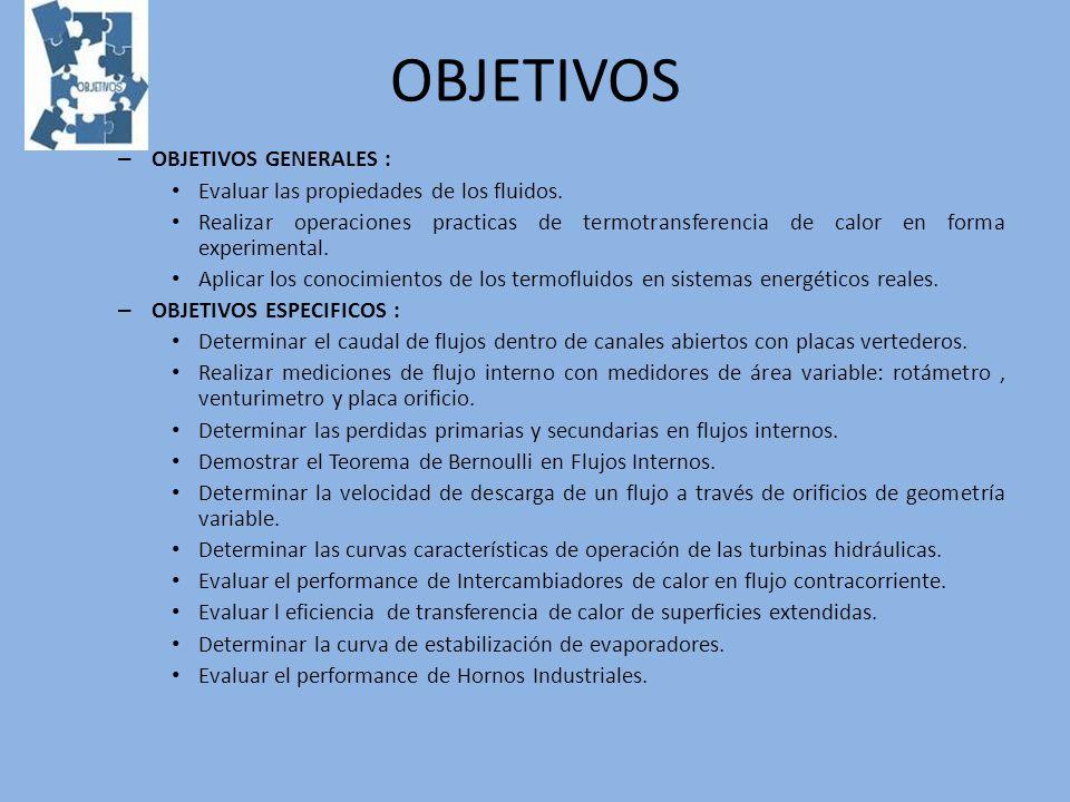 OBJETIVOS OBJETIVOS GENERALES :