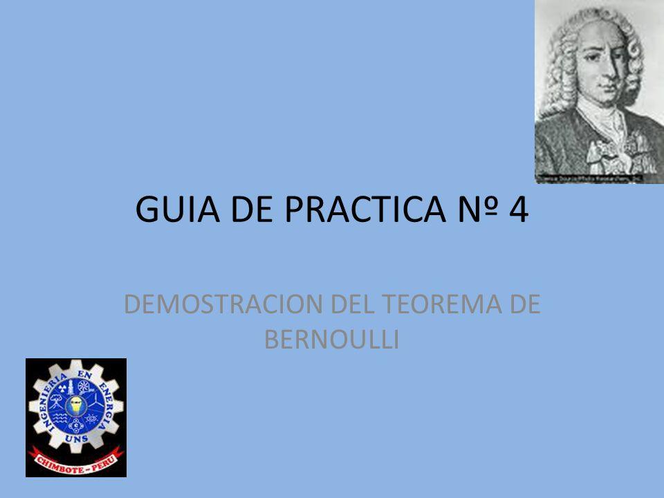 DEMOSTRACION DEL TEOREMA DE BERNOULLI