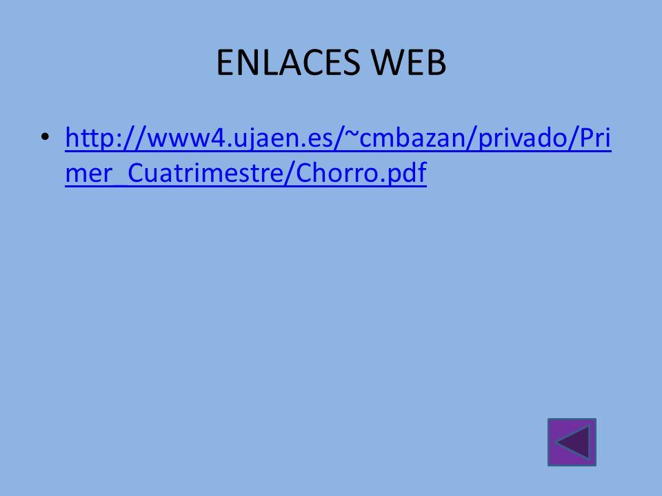 ENLACES WEB http://www4.ujaen.es/~cmbazan/privado/Primer_Cuatrimestre/Chorro.pdf