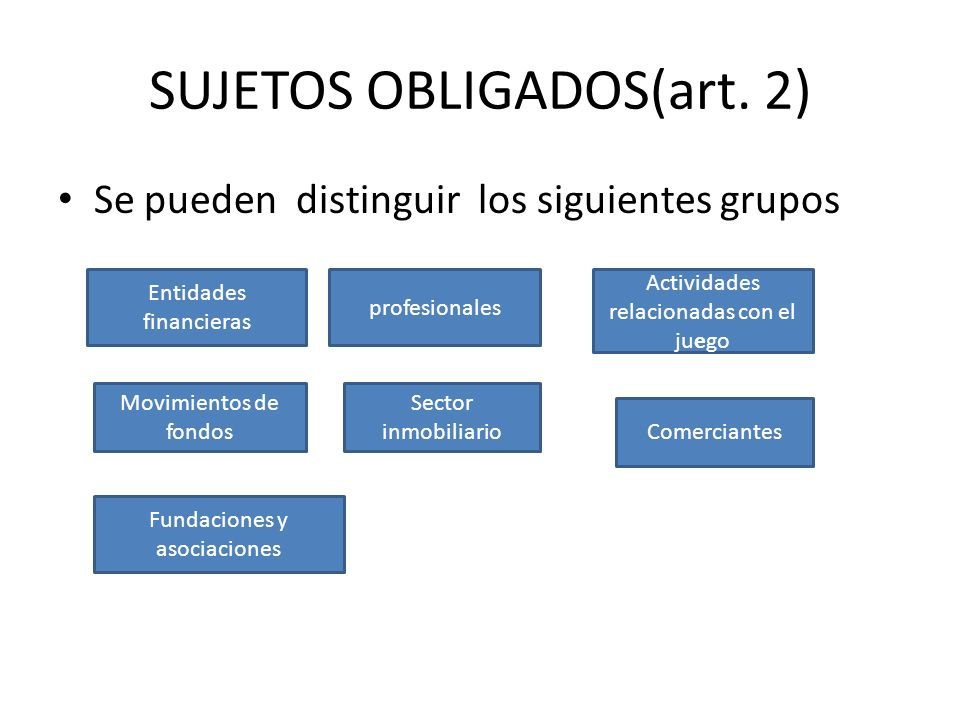 SUJETOS OBLIGADOS(art. 2)