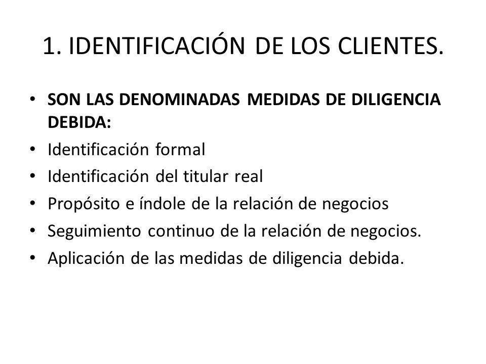 1. IDENTIFICACIÓN DE LOS CLIENTES.