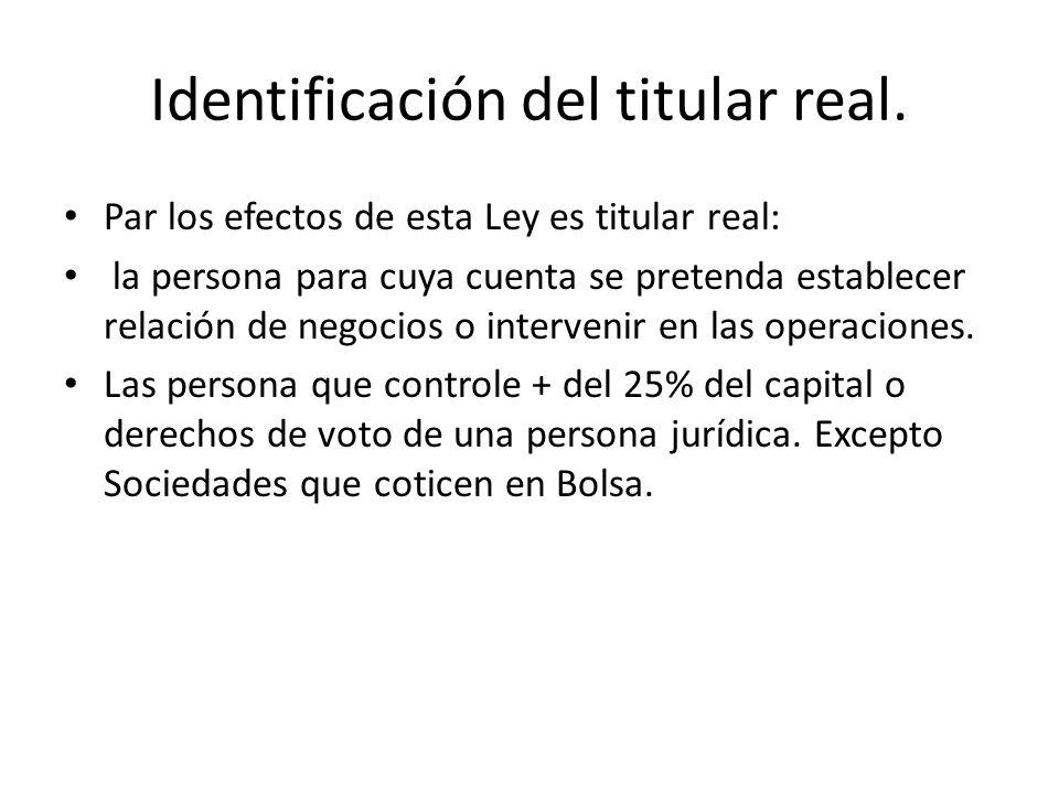Identificación del titular real.