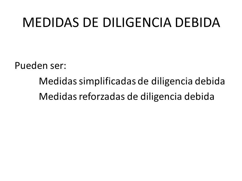 MEDIDAS DE DILIGENCIA DEBIDA
