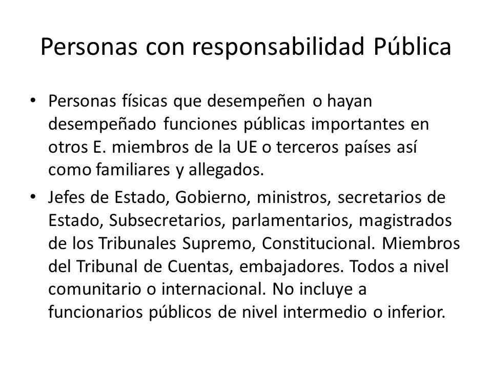 Personas con responsabilidad Pública