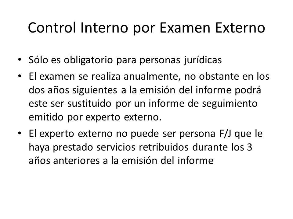Control Interno por Examen Externo