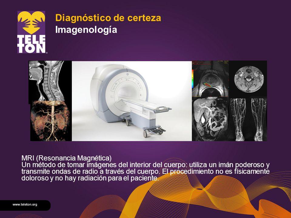 Diagnóstico de certeza Imagenología