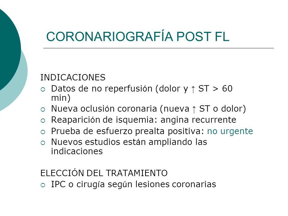 CORONARIOGRAFÍA POST FL