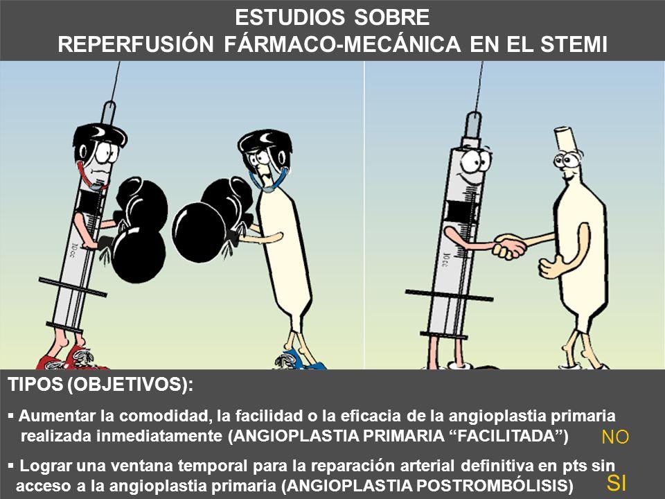 ESTUDIOS SOBRE REPERFUSIÓN FÁRMACO-MECÁNICA EN EL STEMI