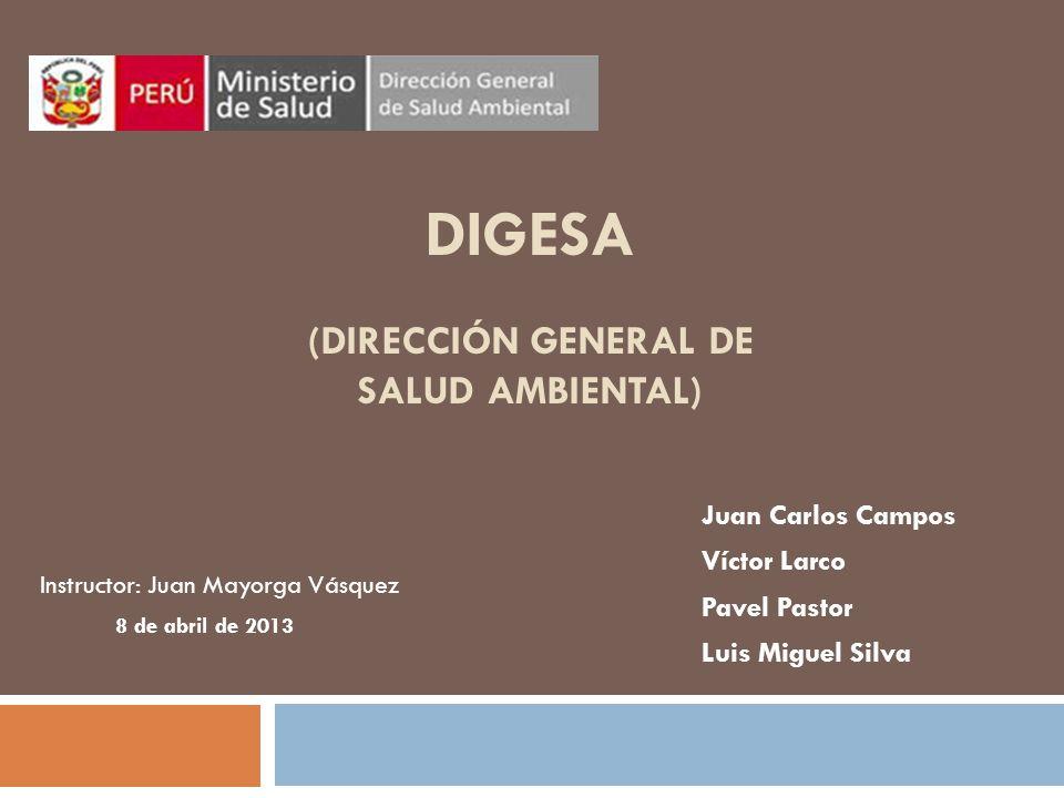 DIGESA (Dirección General de Salud Ambiental)