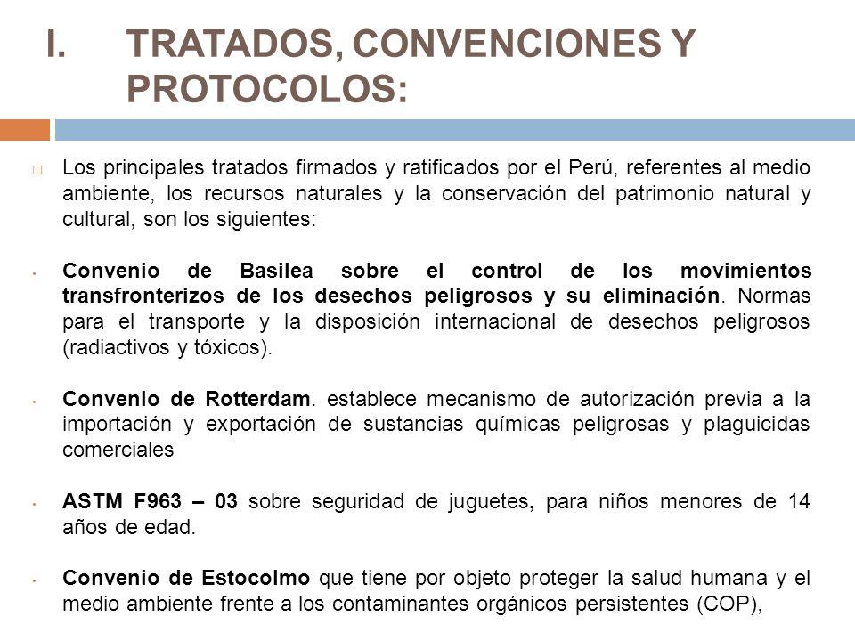 TRATADOS, CONVENCIONES Y PROTOCOLOS: