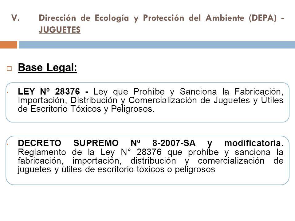 Dirección de Ecología y Protección del Ambiente (DEPA) - JUGUETES