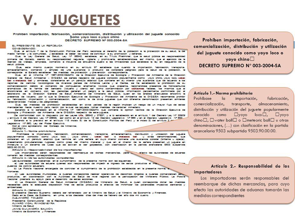 DECRETO SUPREMO Nº 003-2004-SA