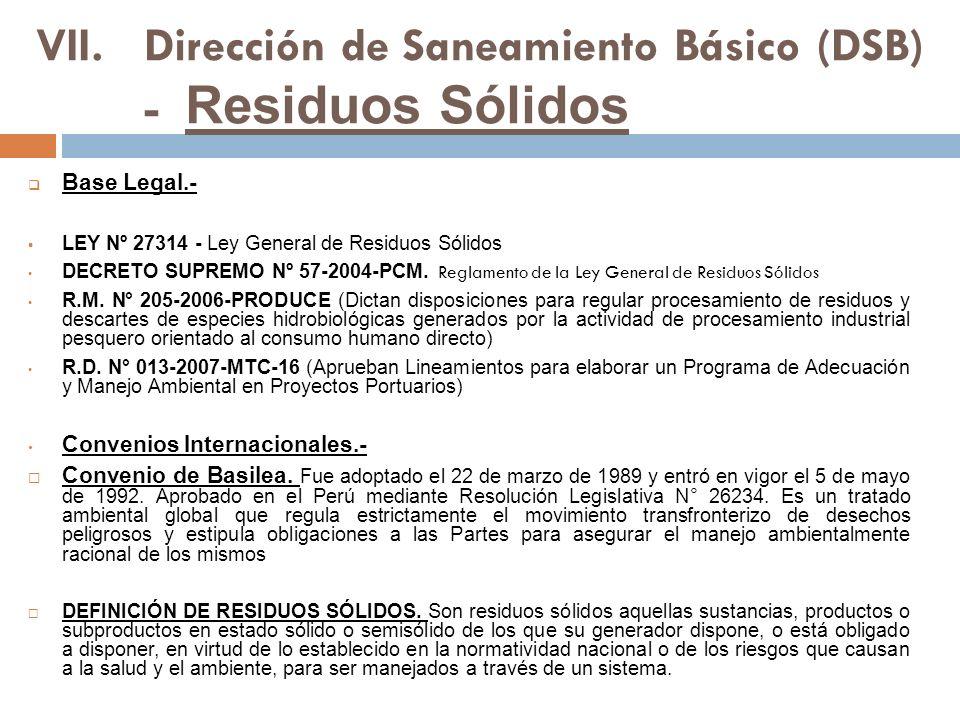 Dirección de Saneamiento Básico (DSB) - Residuos Sólidos