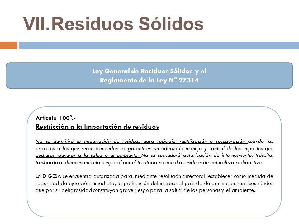 Ley General de Residuos Sólidos y el