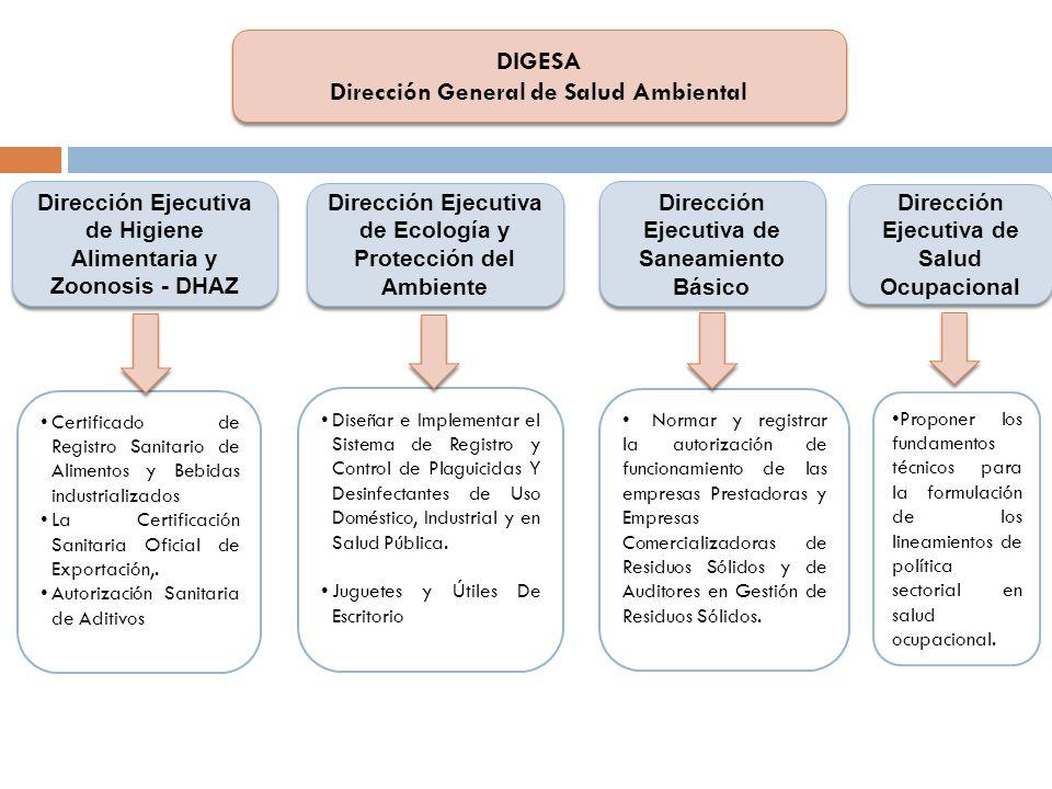 DIGESA Dirección General de Salud Ambiental
