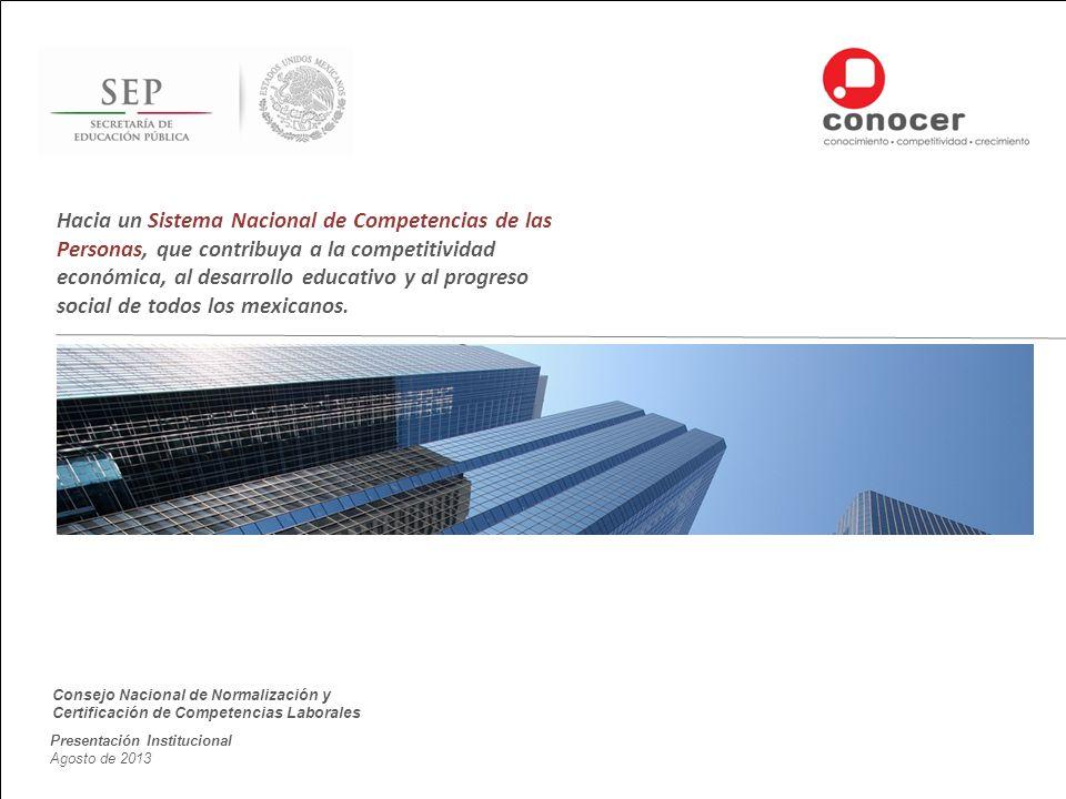 Hacia un Sistema Nacional de Competencias de las Personas, que contribuya a la competitividad económica, al desarrollo educativo y al progreso social de todos los mexicanos.