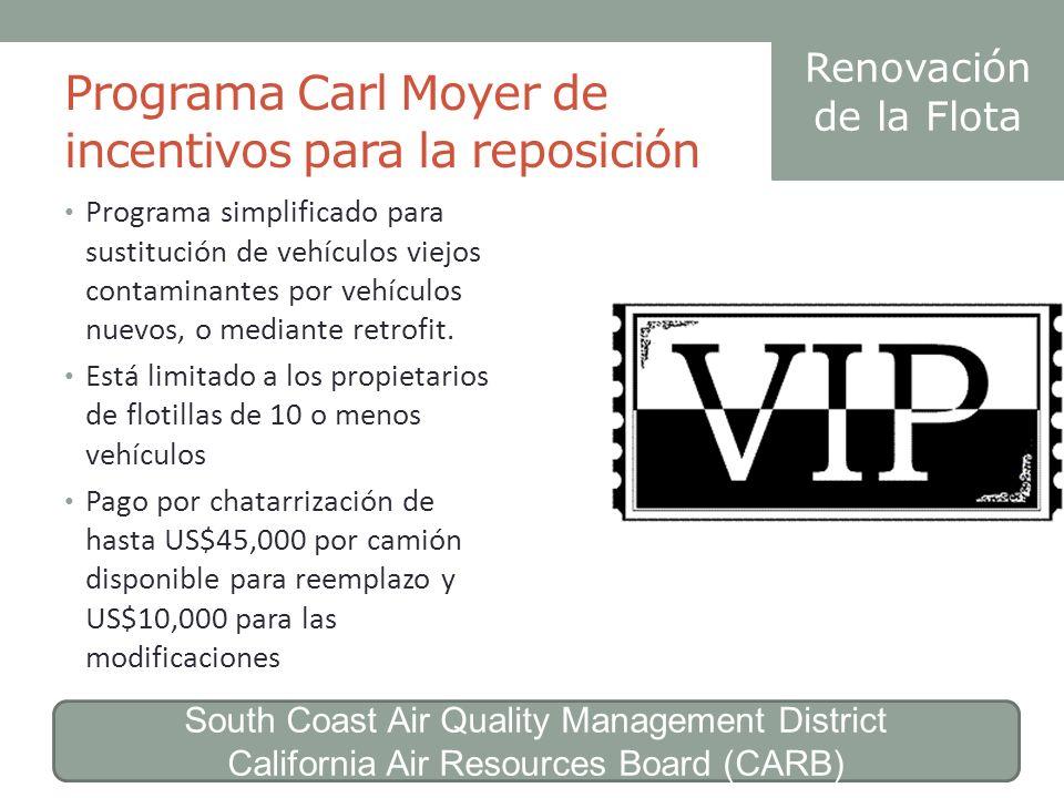 Programa Carl Moyer de incentivos para la reposición
