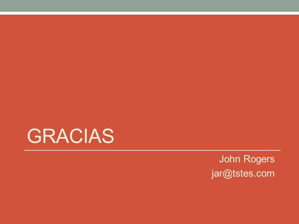 gracias John Rogers jar@tstes.com