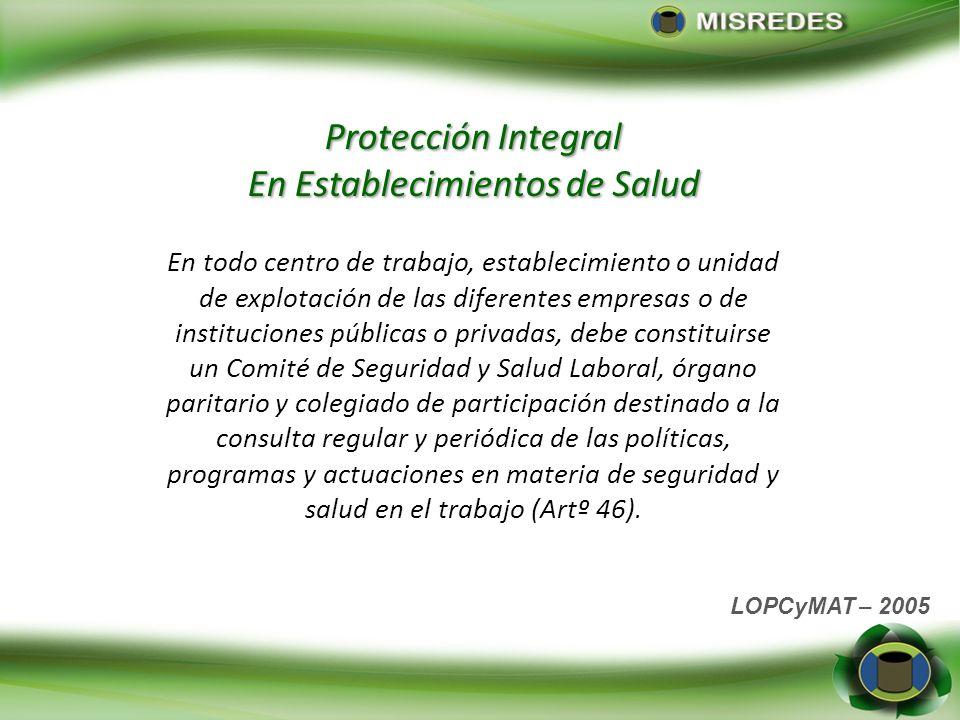 Protección Integral En Establecimientos de Salud
