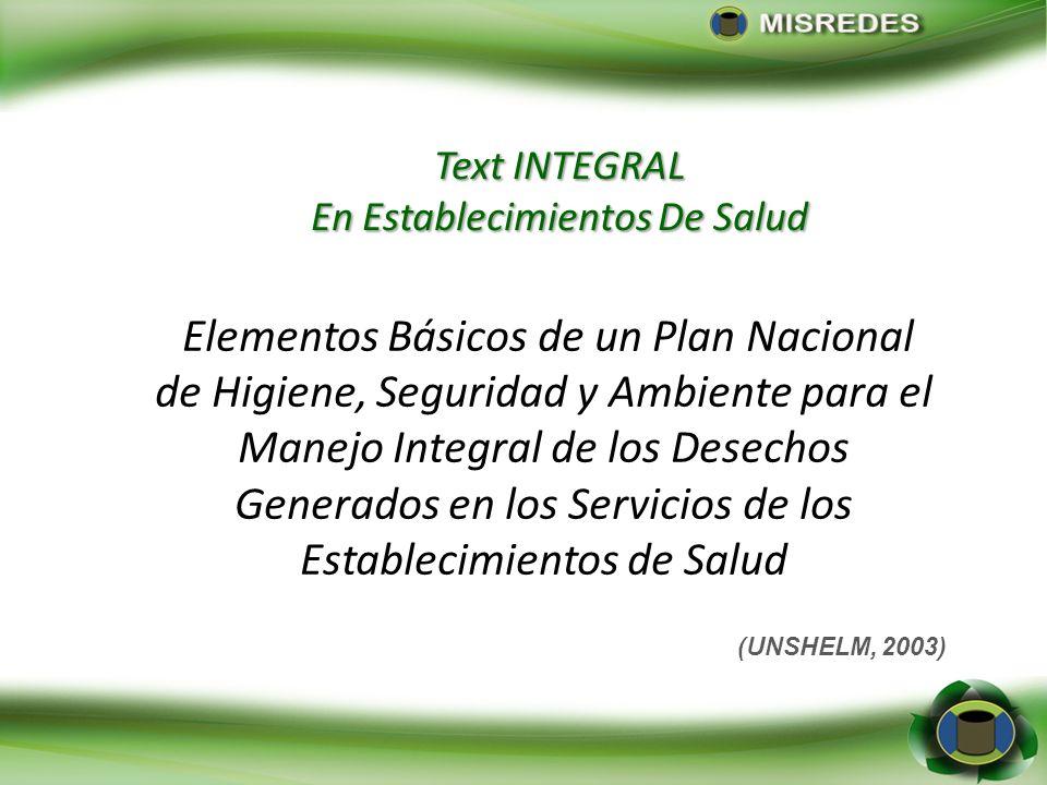 Text INTEGRAL En Establecimientos De Salud