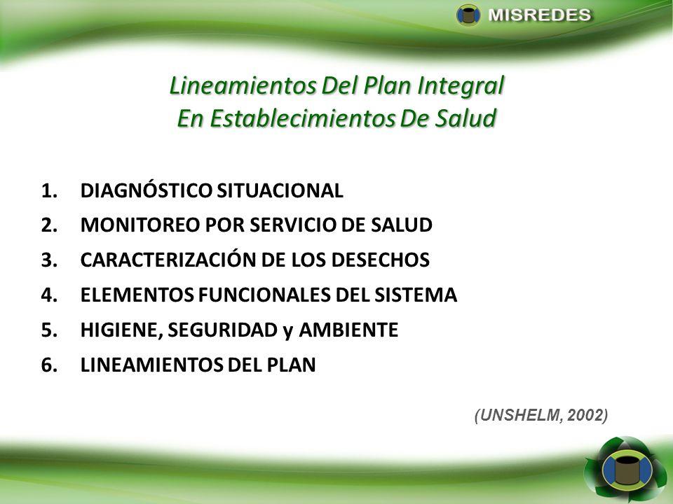 Lineamientos Del Plan Integral En Establecimientos De Salud