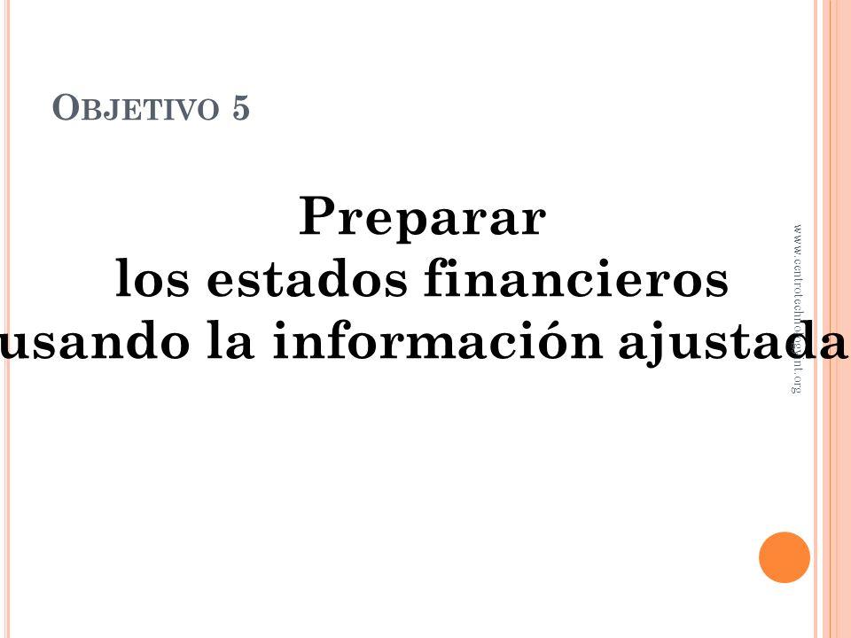 los estados financieros usando la información ajustada