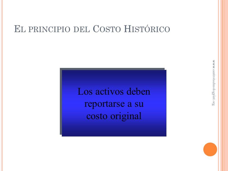 El principio del Costo Histórico