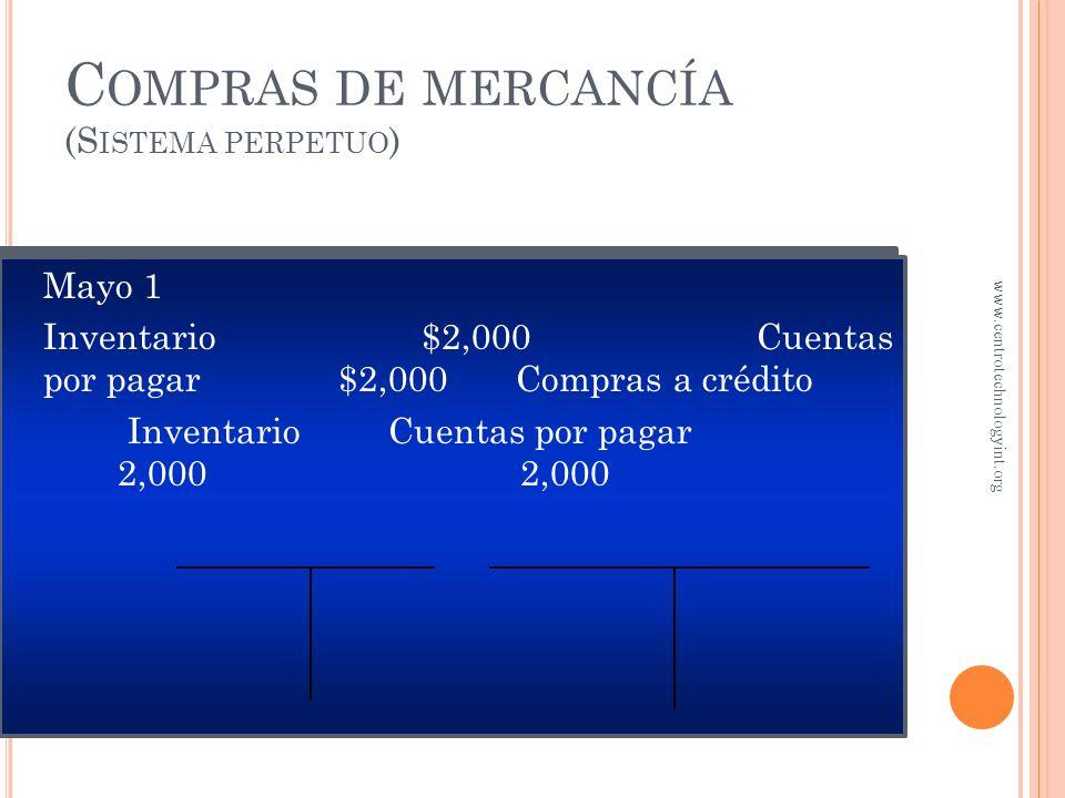 Compras de mercancía (Sistema perpetuo)