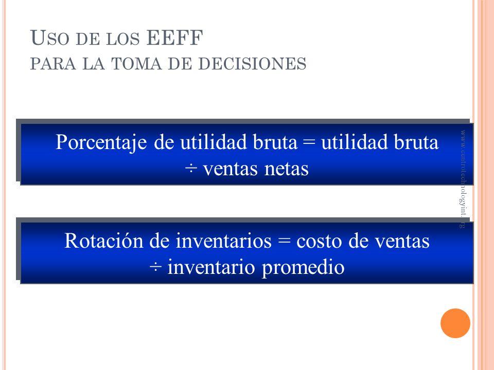Uso de los EEFF para la toma de decisiones