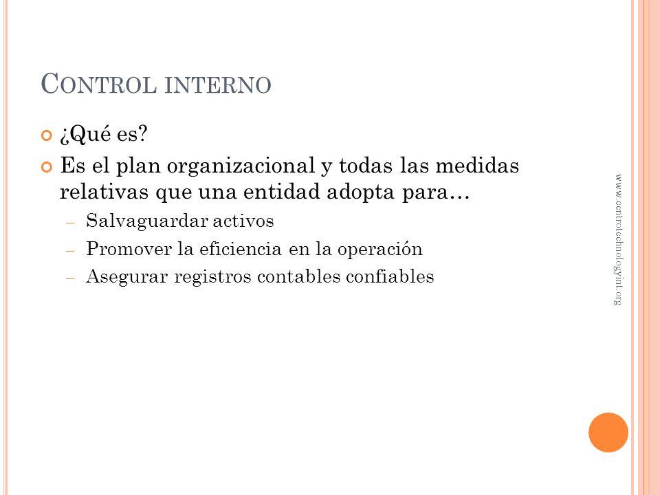 Control interno ¿Qué es