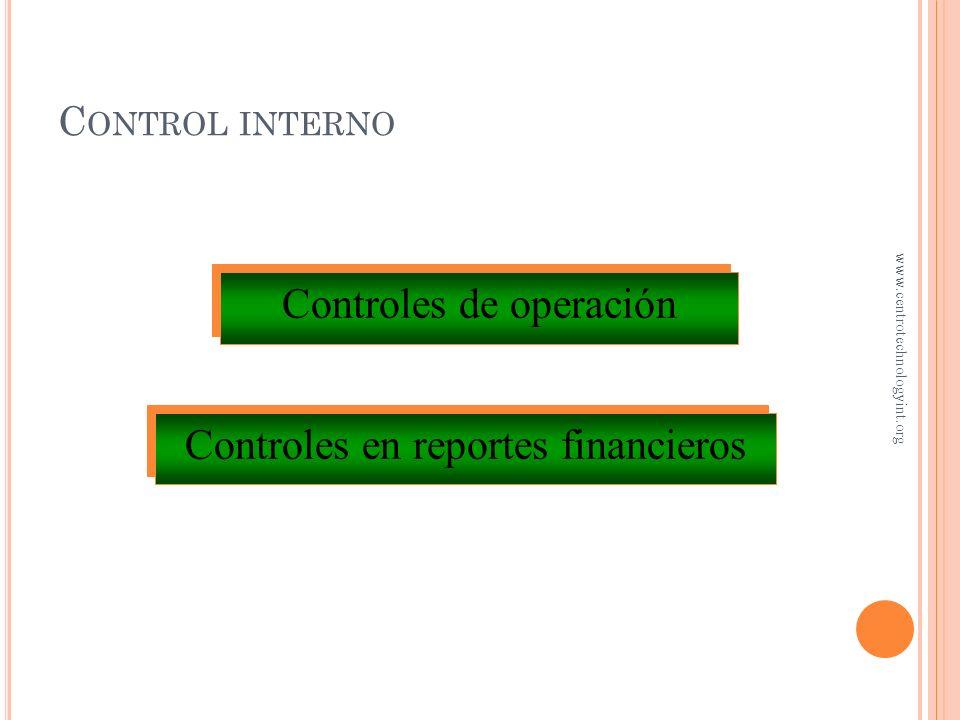 Controles de operación