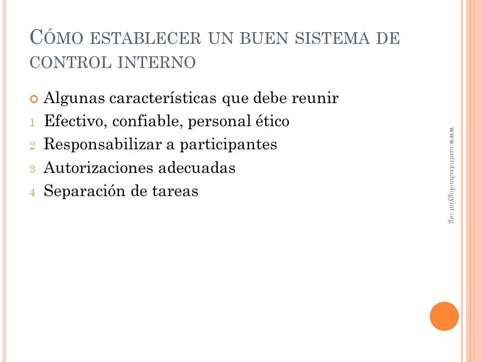 Cómo establecer un buen sistema de control interno
