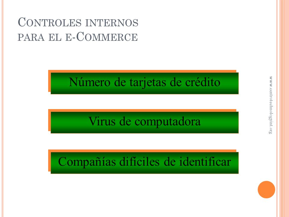 Controles internos para el e-Commerce