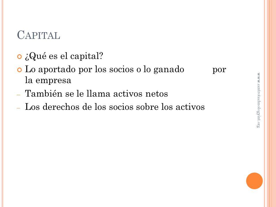 Capital ¿Qué es el capital