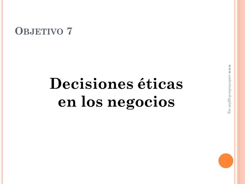 Decisiones éticas en los negocios