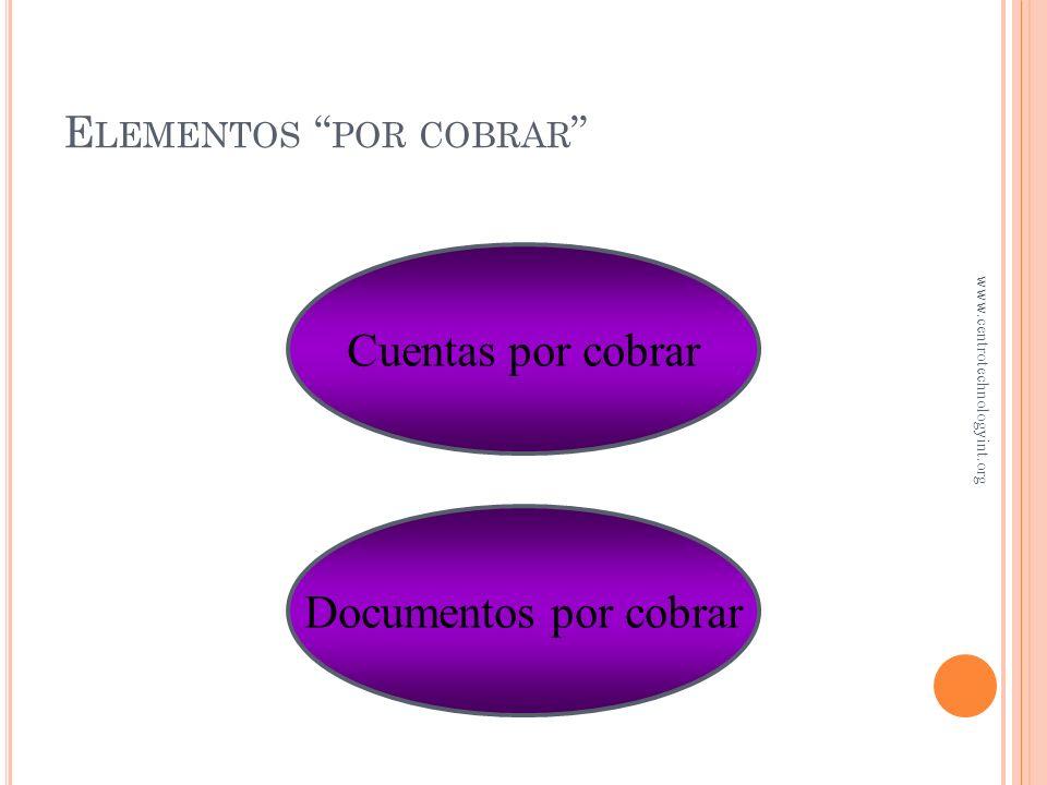 Elementos por cobrar