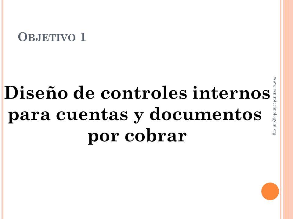 Diseño de controles internos para cuentas y documentos
