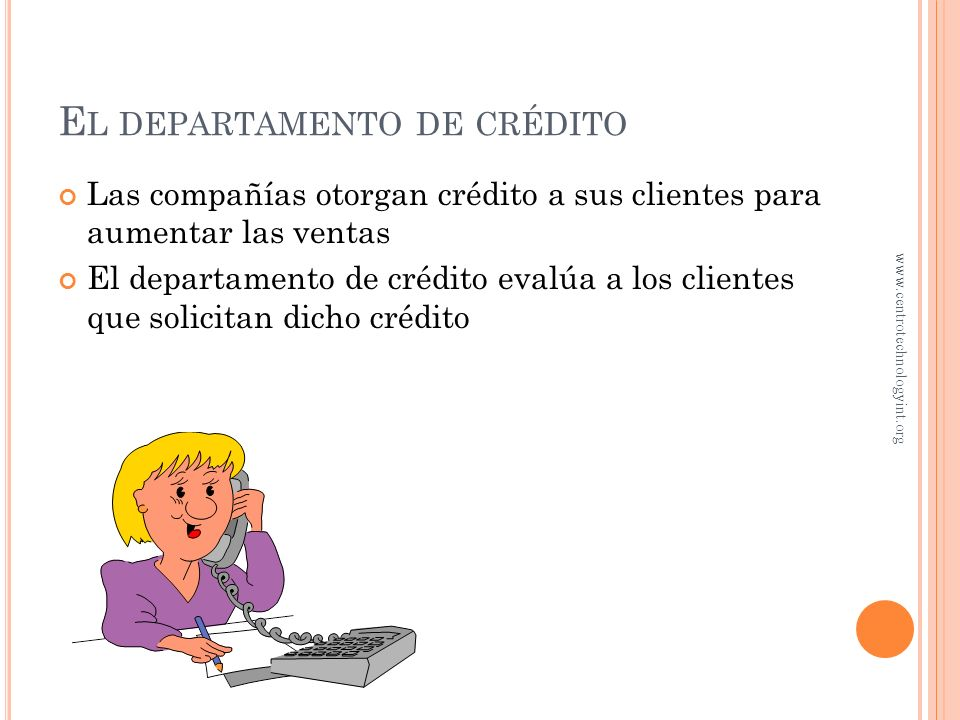 El departamento de crédito