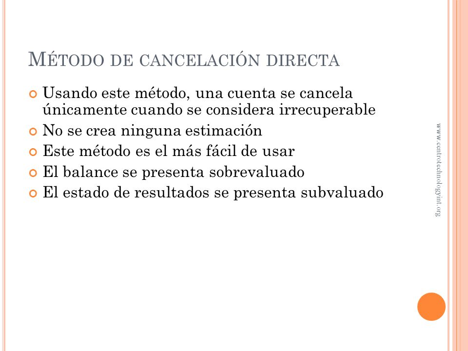 Método de cancelación directa