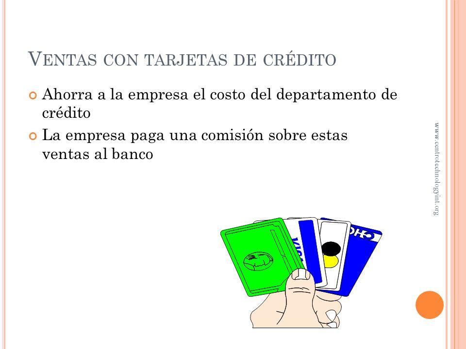 Ventas con tarjetas de crédito