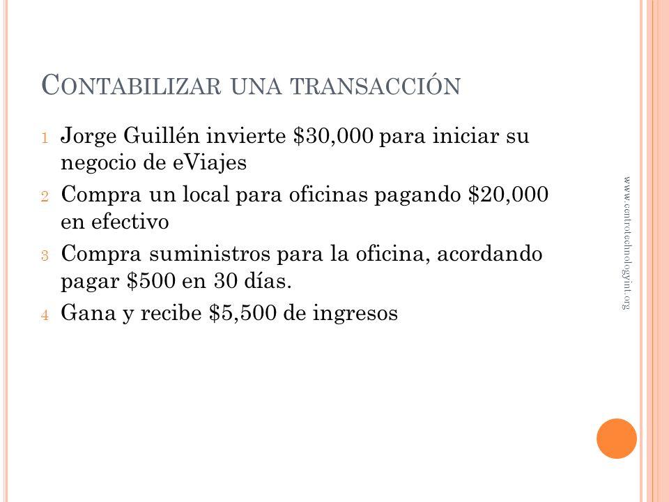 Contabilizar una transacción