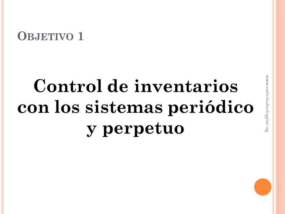 Control de inventarios con los sistemas periódico