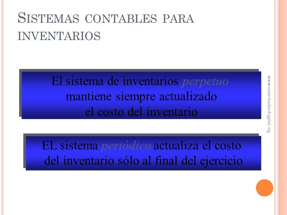 Sistemas contables para inventarios