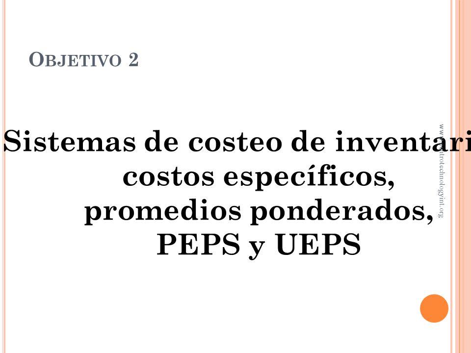 Sistemas de costeo de inventarios: