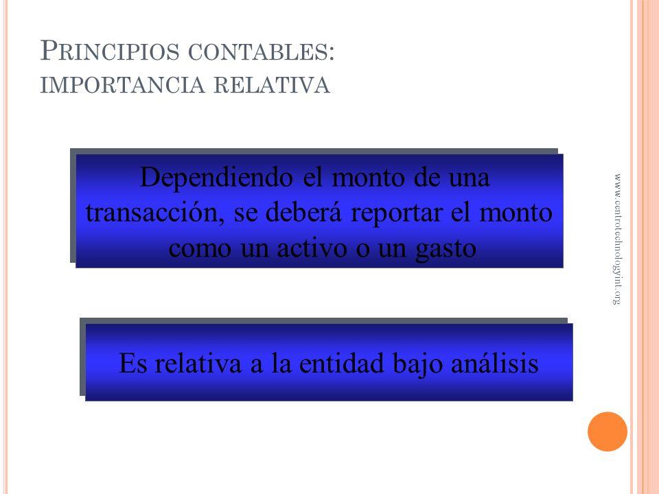 Principios contables: importancia relativa