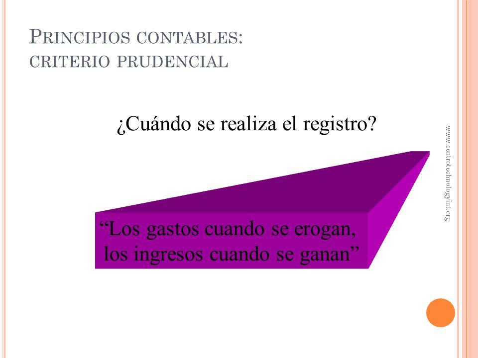Principios contables: criterio prudencial
