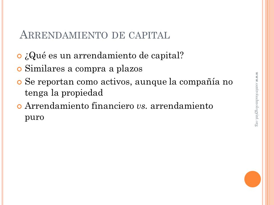 Arrendamiento de capital
