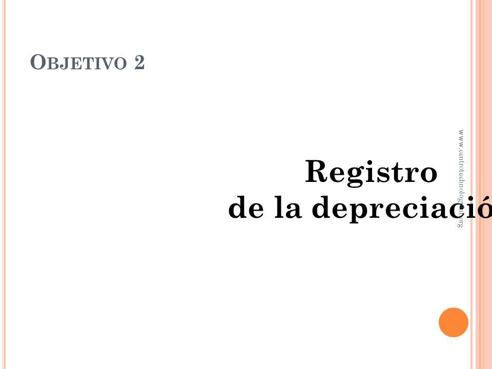 Registro de la depreciación