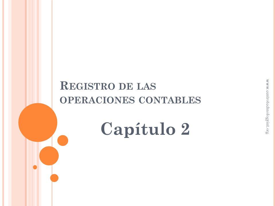 Registro de las operaciones contables